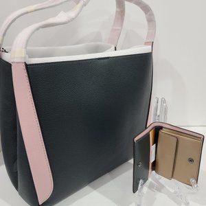 COACH COLORBLOCK HADLEY HOBO + MATCHING WALLET NEW